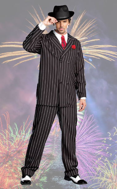 20s Pinstripe Gangster Suit Costume