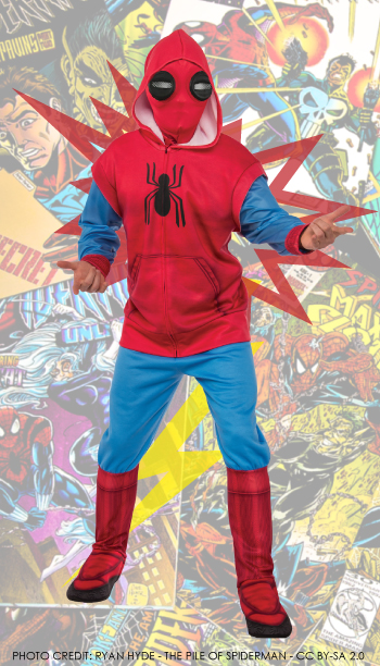 Mens Deluxe Spider-Man Homecoming Sweats Costume